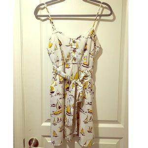 Sailboat Print Dress